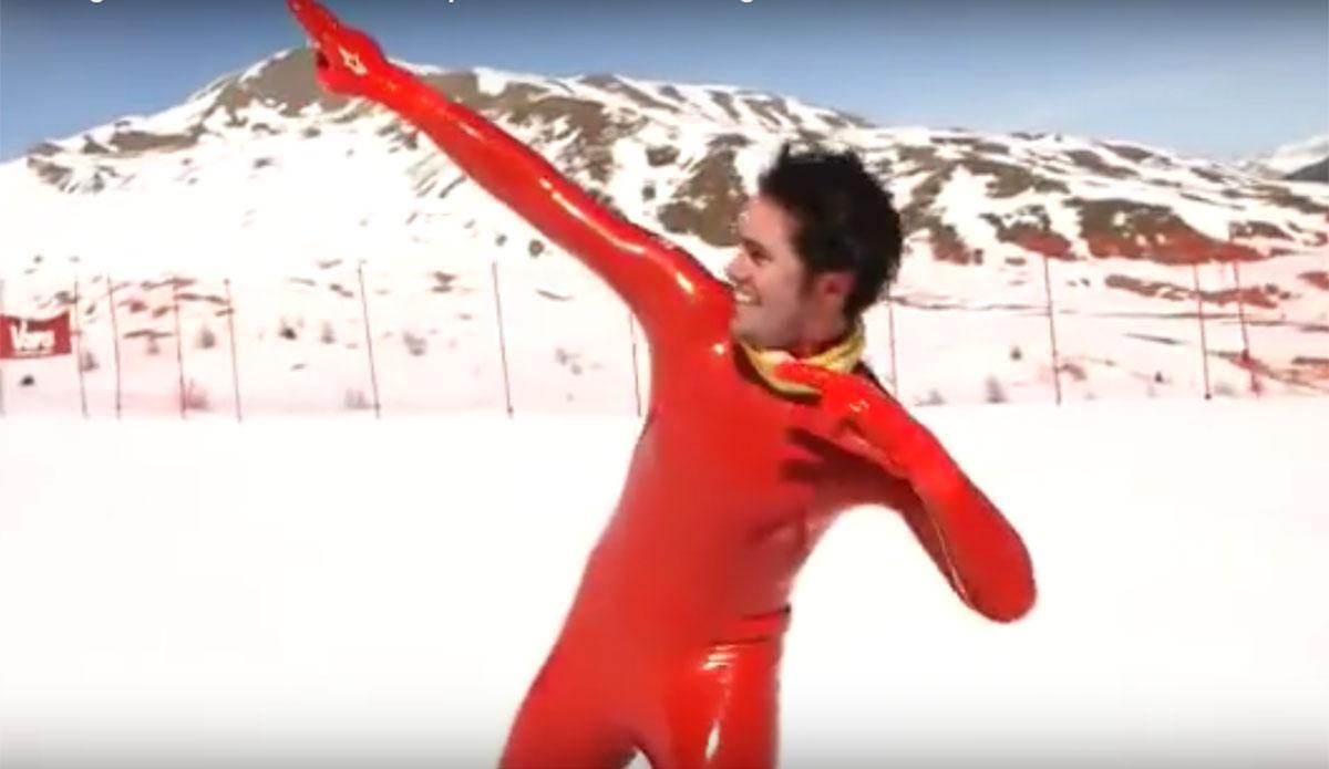 Hastighetsrekord pa skidor