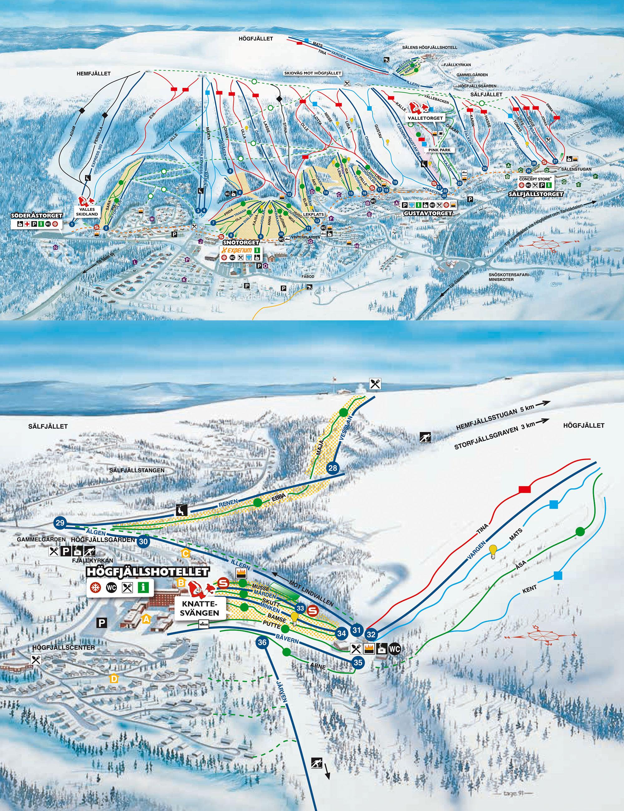 karta lindvallen gustavtorget Lindvallen   Högfjället | Skidinfo.se – Skidresor, nyheter om  karta lindvallen gustavtorget